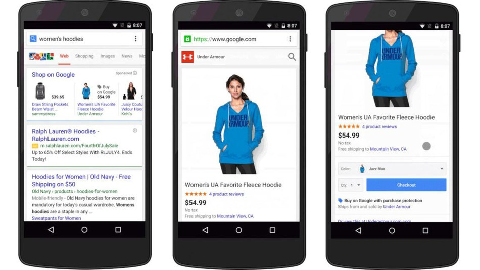 "Google Considering a ""Buy"" Button Right on Mobile Results 